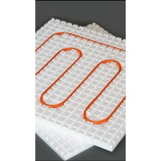 Теплозвукоизолирующие маты для монтажа водяного тёплого пола, диаметр трубы 16 мм, размер мата 1000х1000х50 мм. Материал ПСБ-С35 ТУ