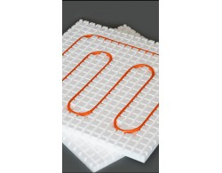 Теплозвукоизолирующие маты для монтажа водяного тёплого пола, диаметр трубы 16 мм, размер мата 1000х1000х50 мм. Материал ПСБ-С 35 ТУ
