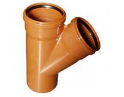 Тройник для дренажной трубы 110 мм/45 градусов