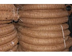 Однослойная дренажная труба в фильтре с кокосовой койрой ПНД (Россия) D=110 мм (бухта 50 м)