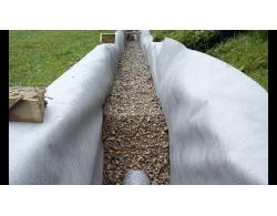 Геотекстиль дренажный иглопробивной Дорнит 150 гр/кв. метр, 2 метра ширина, 50 пог. метров длинна, 100 кв. метров