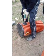 Дренажный пластиковый колодец диаметром 368 мм, 1 метр