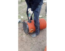 Дренажный пластиковый колодец диаметром 368 мм, 1 метр(рыжий)