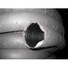 Однослойная дренажная гофрированная труба SN 4 с перфорацией и с геотекстильным фильтром ПНД (Россия) D=160 мм (бухта 50 м)