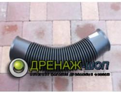 Гибкий раструбный отвод для ливневой трубы Uponor (Финляндия) диаметр 110 мм