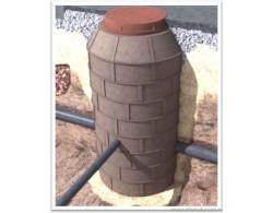 Люк полимерпесчаного сборного колодца (диаметр 1 метр)