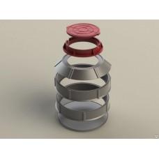 Конус полимерпесчаного сборного колодца (диаметр 1 метр)