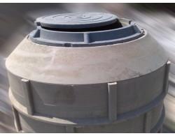 Кольцо полимерпесчаного сборного колодца 0.20 метра (диаметр 1 метр)