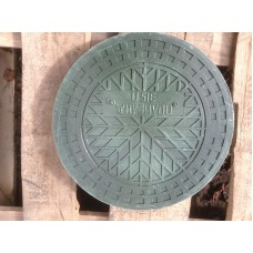 Люк дренажного колодца П/П 1.5 т диаметр 368 мм