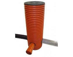 Дренажный пластиковый колодец диаметром 368 мм, 5 метров(рыжий)