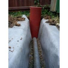 Дренажный пластиковый колодец диаметром 368 мм, 3 метра