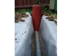 Дренажный пластиковый колодец диаметром 368 мм, 3 метра(рыжий)