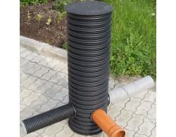 Дренажный пластиковый колодец диаметром 460х1000 мм