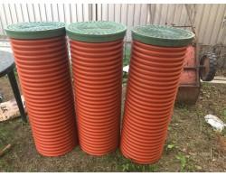 Дренажный пластиковый колодец диаметром 368 мм, 2 метра(рыжий)