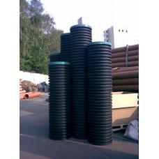 Дренажный пластиковый колодец диаметром 700х3000 мм