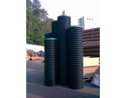Смотровой коллекторный колодец с дном и крышкой диаметр 460 мм 3 метра