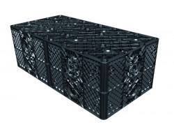 Дренажный блок ЕСО 800х800х320 вес 8 кг на 205 литров. Соединение на 100/125/150