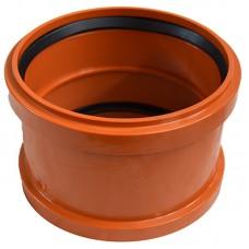 Муфта для дренажной трубы соединительная диаметр 160 мм