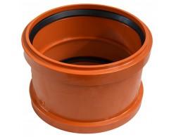 Муфта для дренажной трубы соединительная диаметр 110 мм