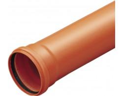 Труба раструбная ПВХ Д 110 мм дл 1 м