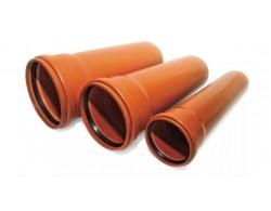 Труба раструбная ПВХ Д 110 мм дл 1.5 м
