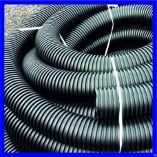 Труба одностенная гофрированная для ливневой канализации ПНД D=110 мм (бухта 50 метров)