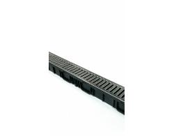 Лоток водоотводный пластик DN100 с пластиковой решеткой 1000х134х95